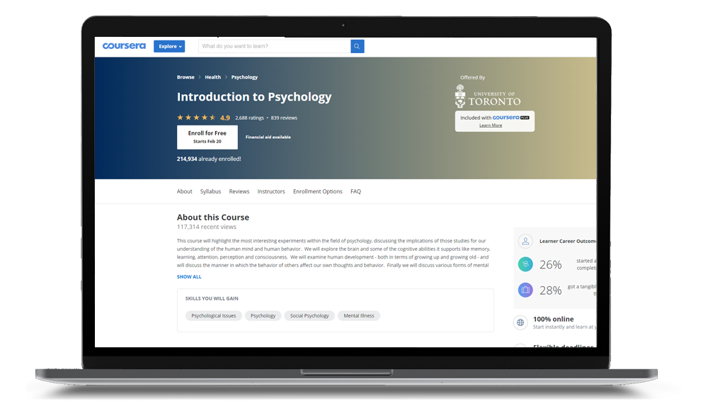 Introduction To Psychology Course Online